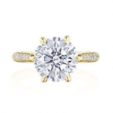 Tacori 18k Yellow Gold RoyalT Diamond Straight Ring