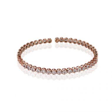 Simon G. 18k Rose Gold Diamond Bangle Bracelet