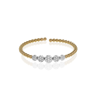 Simon G. 18k Two-Tone Gold Diamond Bangle Bracelet