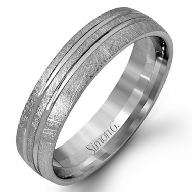 Simon G. Platinum Men's Wedding Band