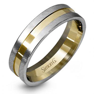 Simon G. 18k Two Tone Gold Men's Wedding Band