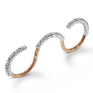 Simon G. 18k Two Tone Gold Classic Romance Diamond Ring