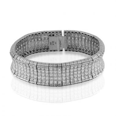 Simon G. 18k White Gold Nocturnal Sophistication Diamond Bracelet