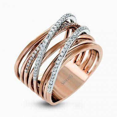 Simon G. 18k Rose Gold Diamond Ring