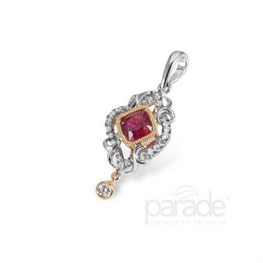 Parade Design 18k Two Tone Gold Diamond Pendant