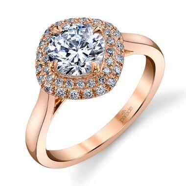 Parade Design 18k Rose Gold Diamond Engagement Ring