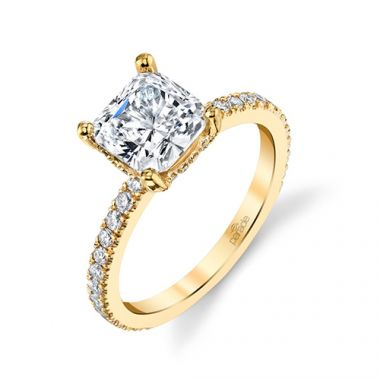 Parade Design 18k Yellow Gold Diamond Engagement Ring