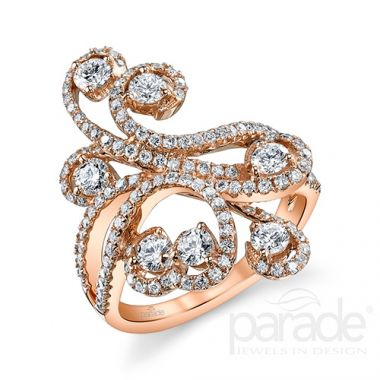 Parade Design 18k Rose Gold Diamond Ring