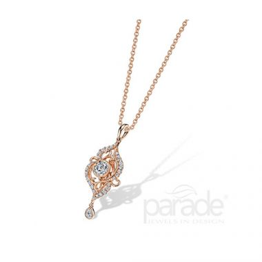 Parade Design 18k Rose Gold Diamond Necklace