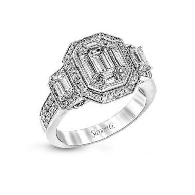 Simon G. Platinum Diamond Engagement Ring